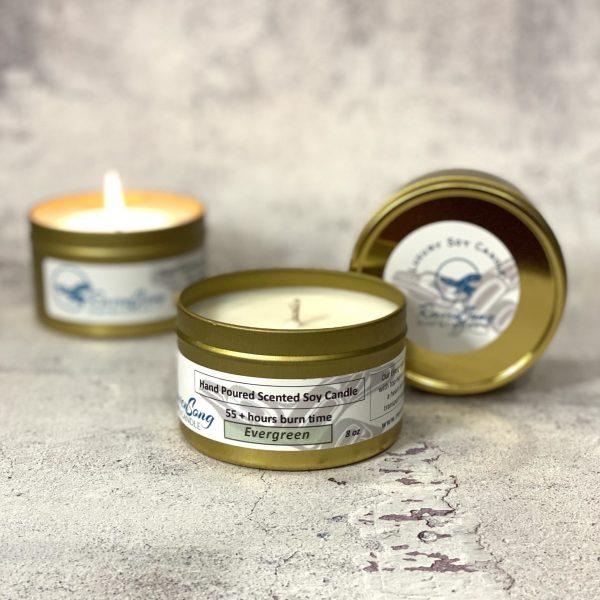 Evergreen 8 oz Luxury Soy Candle