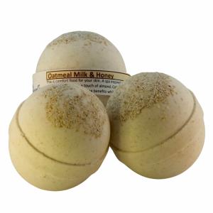 Oatmeal Milk + Honey Bath Bomb Trio